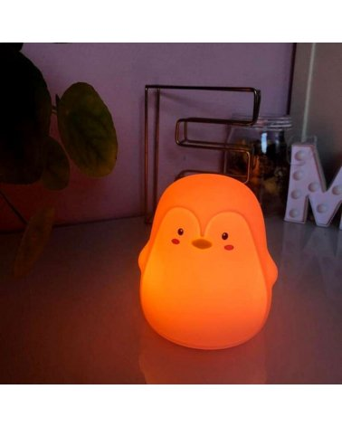 Silicone Touch LED Penguin Night Light (with usb cable)