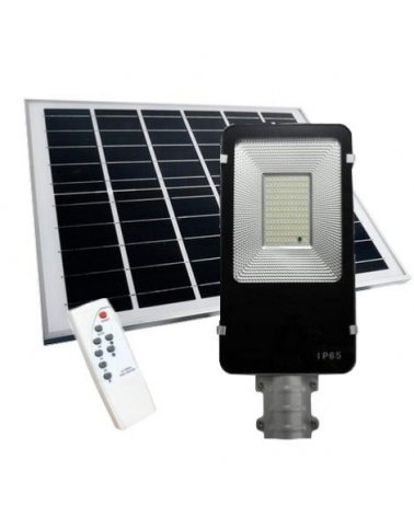 Lighting Outdoor LED Solar 50W Dimmable with detector (Solar Panel + Remote Included)
