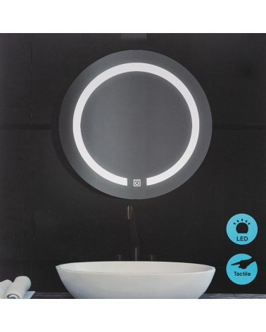 LED round wall mirror 45cm with touch switch
