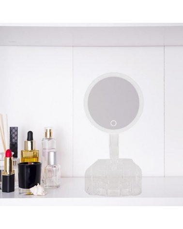 Mirror with jewelry storage - Transparent
