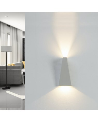 Wall Lamp LED 10W IP44 Double Beam WHITE