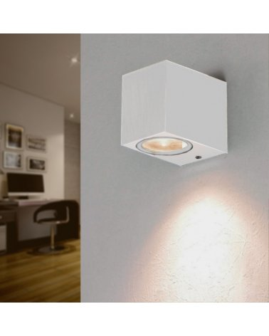 Wall Lamp IP44 3W Design Square WHITE