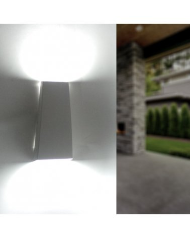 Wall Lamp LED 7W IP44 Double Beams WHITE