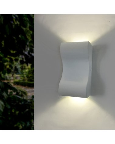 Wall Lamp LED 10W IP44 Double Beams WHITE