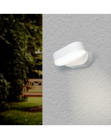 Wall Lamp White LED IP54 Adjustable Oval
