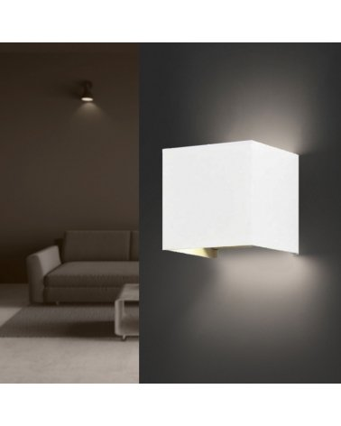 Wall Lamp White 6W LED IP54 Square