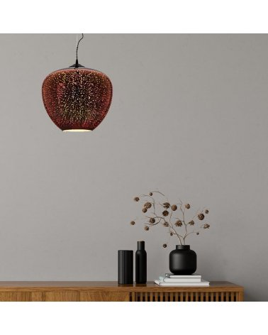 Suspension LED Glass COPPER Fireworks