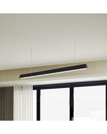 Suspension Linear LED 120cm 40W BLACK