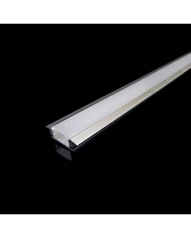 Aluminum profile for LED 1m Built Opaque White Band Cover