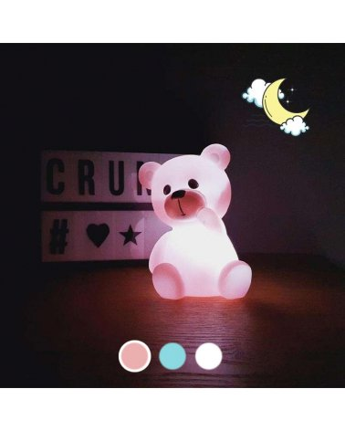 Teddy bear LED night light 23cm with batteries included