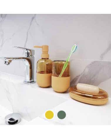 Opaque Transparent Plastic Toothbrush Holder - Solid Color