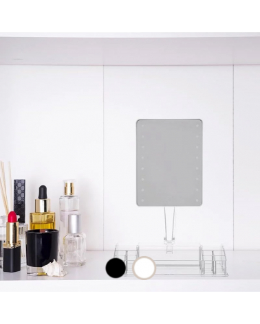LED mirror with jewelry storage - Uni color