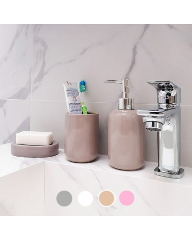 Ceramic Toothbrush Holder - Solid Color