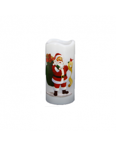 Christmas projector candle 15cm (batteries not included)