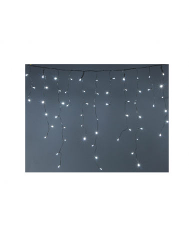 Garland Curtain Stalactite 480LED IP44 20M 8 Modes with Timer - Cold White