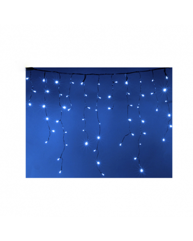 Garland Curtain Stalactite 180LED IP44 3M with Timer - Blue