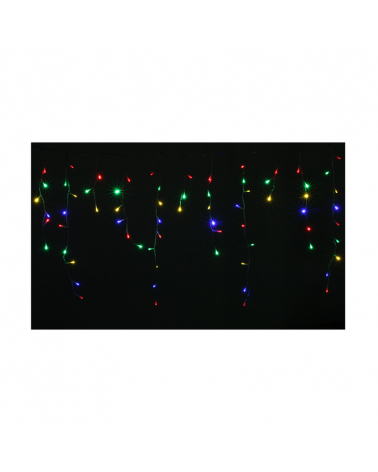 Garland Curtain Stalactite 180LED IP44 3M with Timer - Multicolor