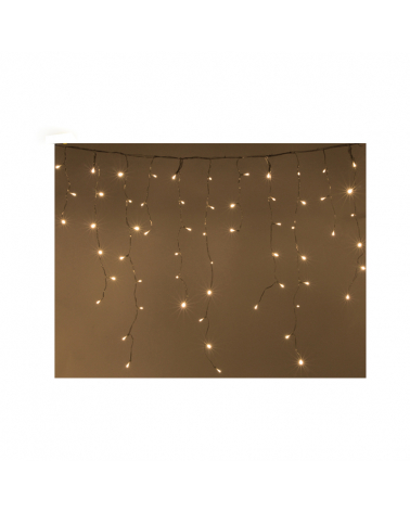 Garland Curtain Stalactite 180LED IP44 3M with Timer - hot white