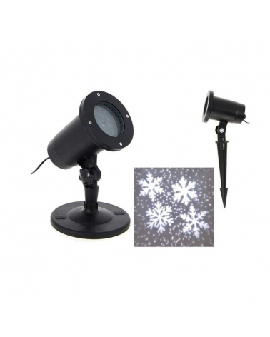 Light projector LED 4W 12V IP44 Snowflakes