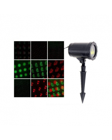 LED light projector 8 games IP44 + Remote RED / GREEN